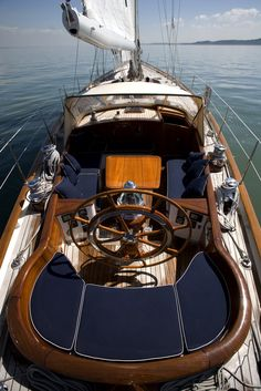 How gorgeous is this? S/Y COPIHUE - Cockpit