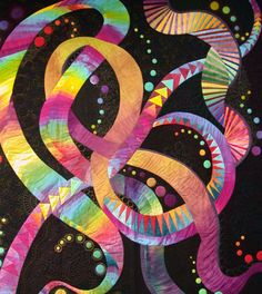 Whirling Around  quilt designed by Caryl Bryer Fallert  made by Nancy Sterett Martin