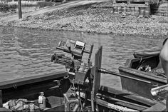 "A Browning cal machine gun at the stern of a PBR at the My Tho Navy docks on the Mekong river in South Vietnam. Just a block or so south of the Dinh Tuong Provincial Phoenix HQ I worked out of during my ""vacation"" to the VIetnam war. Vietnam History, Vietnam War Photos, Brown Water Navy, Navy Chief, My Tho, War Image, South Vietnam, United States Navy, Korean War"