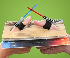 Do battle at the highest of levels when you square off with an opponent at lightsaber thumb wresting. The mini lightsabers attach to the thumb via velcro to...