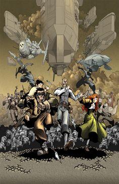 Written by MARC ADAMS. Art by SEBASTIAN PIRIZ. Ordon & Lawrence is an action adventure comedy comic book set in a rich Steampunk universe.