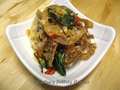 Elinluv's Tidbits Corner: Crispy Lotus Root With Salted Egg Yolk