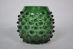 Empoli Verde glass vase made in Italy by RetroMungo on Etsy