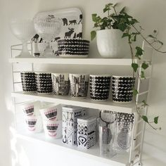 string hylla, string shelf, string regal, pic by camillasavenskog String Shelf, Marimekko, My Dream Home, Ikea, Sweet Home, New Homes, Shelves, House Design, Living Room