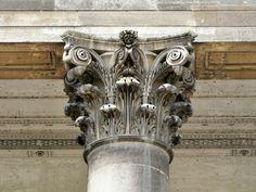 Acanto - Motivo ornamental que imita las hojas de esa planta. El acanto es característico de los capiteles del orden corintio