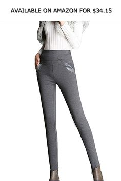 0d6c0b55db9047 Robert Reyna Fashionable Winter Women Pants Pantalones Outwear Leggings,Large,GrayNoVelvet  ◇ AVAILABLE ON AMAZON FOR: $34.15 ◇ About Product:1.