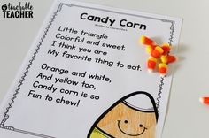 Free candy corn reading activities are the perfect way to kickstart fall in your classroom! Practice lots of skills with this engaging theme! Halloween Activities, Autumn Activities, Preschool Halloween, Halloween Crafts, Halloween Ideas, Fall Preschool, Preschool Songs, Comprehension Activities, Reading Activities