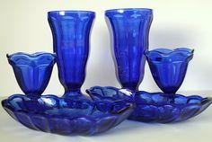 Anchor Hocking Cobalt Blue Fountain Ware.  by CreekLifeTreasures, $40.00