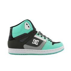 Womens DC Rebound Hi Skate Shoe - Black/Grey/Mint ($74.99 @ Journeys)