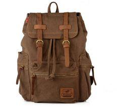 DDHBAG Vintage canvas leather satchel backpack in guangzhou huadu school bag,vintage canvas leather satchel backpack,backpack made in guangzhou,leather backpack Leather School Bag, Leather Laptop Bag, Leather Satchel, Leather Backpack, Men's Leather, Real Leather, Satchel Backpack, Laptop Backpack, Travel Backpack