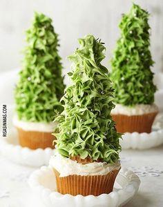 Cupcakes originales: Árbol de navidad