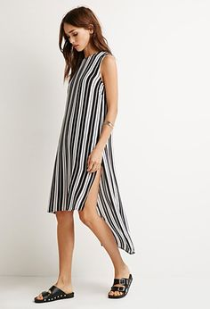 Striped Chiffon Top   Forever 21 - 2000155954