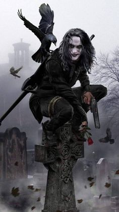 The Crow movie crow Dark Fantasy Art, Dark Art, Brandon Lee, Bruce Lee, Arte Horror, Horror Art, Horror Movies, Crow Movie, Bd Art