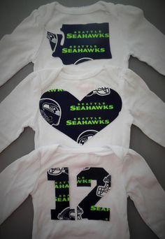 Seahawks onesie, seattle seahawks, seahawks shirt, Seattle seahawks, Seahawks outfit for baby girl, by AzzlinnKaly, $11.99