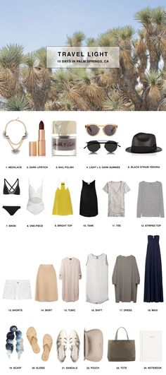 How to Pack for 10 Days in Palm Springs, California