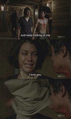 Glenn and Maggie- The Walking Dead season 3
