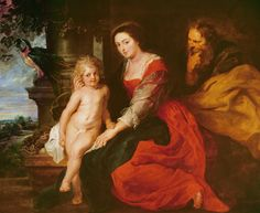 Holy Family With Parrot Painting by Rubens