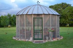 screen porch, corn crib turned gazebo.