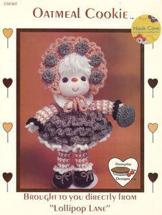 Vintage Oatmeal Cookie 14 Inch Doll a Dumplin Design by NookCove, $5.99