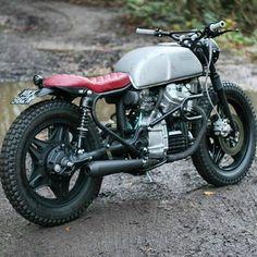 by @robinsonsspeedshop #honda #cx500 #custom #bike #motorcycle #bratstyle #scrambler #caferacer