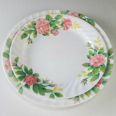 Corelle Elegant Rose Dinnerware Corelle Patterns, Revere Ware, Pyrex, Dinnerware, Celebrations, Buffet, Roses, Plates, Elegant