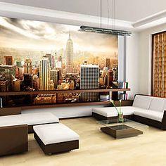 Papier peint Uncombed by wind - New York Tapete, Floor Chair, Wall Murals, Decoration, Wall Decor, Curtains, Modern, Wallpaper, Design