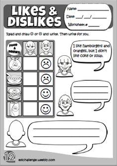 Expressing likes & dislikes - worksheet  Hello Kids 2 http://eslchallenge.weebly.com/hello-kids-2.html