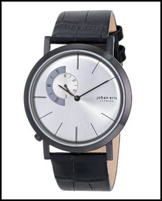 Johan Eric Men's JE1500-13-001 Silver Sunray Dial Watch