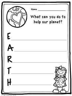Earth Day is April 22nd. I hope you enjoy this Earth Day acrostic poem activity!