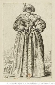 [La noblesse]. [12], [La dame au masque] : [estampe] / Callot - 1