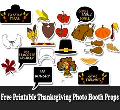 On this page we are sharing Free Printable Thanksgiving Photo Booth Props. These fun props are easy to print and fun to use. Fall Photo Booth, Picture Booth, Photo Booth Props, Photo Booths, Thanksgiving Photos, Thanksgiving Preschool, Thanksgiving 2017, Fall Harvest Decorations, Table Decorations