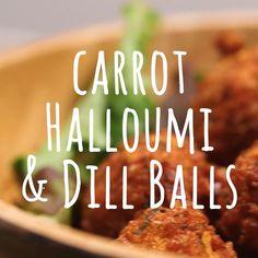 Try our halloumi balls recipe with carrots. This vegetarian balls recipe is an easy halloumi cheese fried balls recipe. Make our vegetarian halloumi recipe Vegan Vegetarian, Vegetarian Recipes, Cooking Recipes, Healthy Recipe Videos, Healthy Recipes, Dill Recipes, Healthy Food, Chicken Dorito Casserole Recipe, Recipes