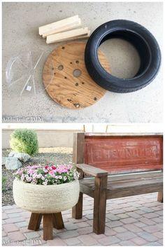 20 ideas para decorar tu jardín con reciclaje. ¡Fabuloso!  #decorar #jardín #reciclar