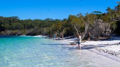 Beautiful Lake McKenzie, Frazer Island, QLD Fraser Island, Gold Coast, Brisbane, Australia, Beach, Water, Outdoor Decor, Beautiful, Water Water