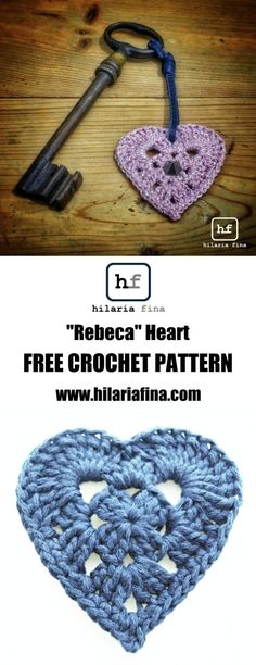 "#crochet ""Rebeca"" Heart - Pattern Spanish & English"