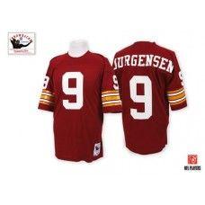 Mitchell and Ness Washington Redskins #9 Sonny Jurgensen Red Throwback NFL Jersey $109.99