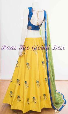 Lehenga Gown, Lehenga Style, Party Wear Lehenga, Indian Lehenga, Blue Lehenga, Anarkali, Choli Designs, Lehenga Designs, Blouse Designs
