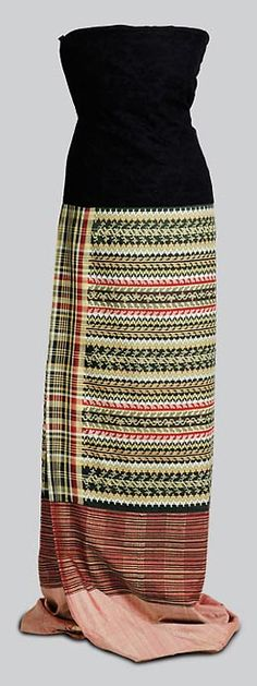 ACHEIQ-LUNTAYA TAPESTRY-WOVEN SILK HTA-MEIN, Burmese (Myanmar), Amarapura-Sagaing region, late 19th c.
