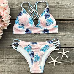 Cupshe Out Of Mind Leaves Bikini Set