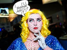 This is so amazing! Channel your face-painting skills to be a Pop Art figure.   21 Unusual Halloween Costumes You Can Make Yourself