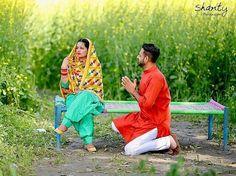Punjabi Wedding Couple, Indian Wedding Couple Photography, Wedding Couple Photos, Punjabi Couple, Sikh Wedding, Couple Photography Poses, Bridal Photography, Wedding Couples, Couple Pictures