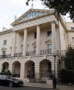 Fine abode: Artist Damien Hirst's multi-million pound home in Regent's Park in…