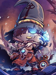 This illustration is part of a collaboration with Ankama Games for the realization of Krosmaster Arena