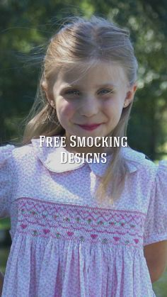 Free patterns, designs and tutorials for sewing, smocking and embroidery. Smocking Baby, Smocking Plates, Smocking Patterns, Hand Smocking Tutorial, Punto Smok, American Girl Outfits, Girls Smocked Dresses, Baby Sewing Projects, Sewing Tutorials