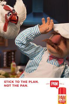 Kéepen calme un køøkin øn! Høønlee wit PAM! #youPAMdoit!