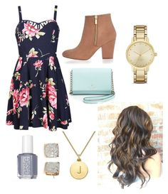 Spring Outfit by rosiek0303 on Polyvore featuring polyvore, fashion, style, Ally Fashion, River Island, Kate Spade, Essie and clothing