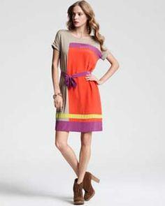 BCBG Louella Color Block Dress