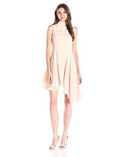 Keepsake The Label Womens Break Even Asymmetrical Mini Dress Champagne Pink Small -- To view further for this item, visit the image link.