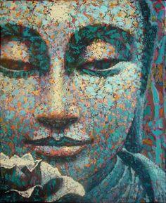 Buddha Tattoo Design, Buda Painting, Buddha Kunst, Buddha Face, Gautama Buddha, Zen Art, Black Women Art, Wall Art Pictures, Art Challenge