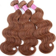 "100% Brazilian 5A Virgin REMY Body Wave Hair Extensions Light Chestnut #4B #hair #haircare  JL Virgin hair is constructed with a ""Shed FREE micro-machined triple weft"" so that your hair extension is guaranteed to lay flat and appear natural. Includes: FREE 6oz. Straight Silk Spray"